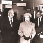 Queen Elizabeth II opening the Museum of Richmond with John Cloake